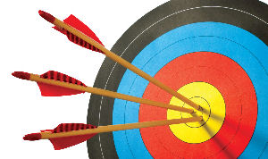 Archery Target Hitting Gold